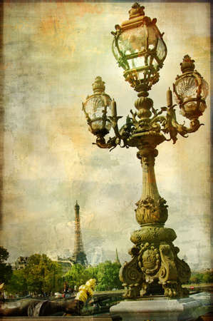 Parisian pictures series - retro styled pictuer Stock Photo - 5190728