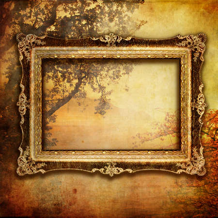 cooper: artistic autumn composition with frame