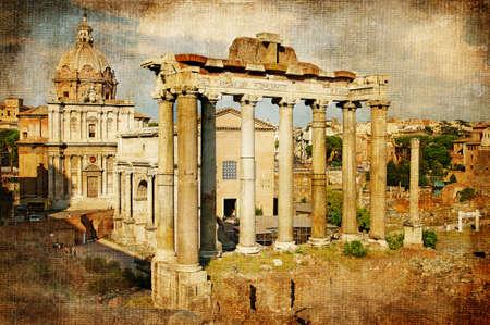 denominado retro: Roman forums - retro styled Banco de Imagens