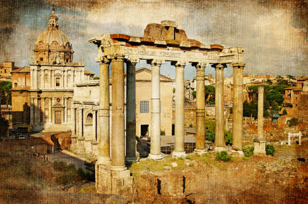 Roman forums - retro styled Stock Photo