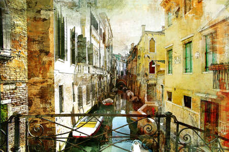 artwork: Venetian pictures - artwotk in painting style Stock Photo
