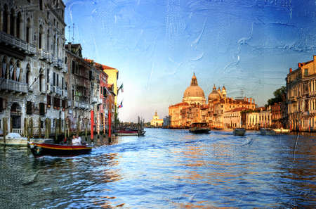 Grand canal - Venice- artwork in painting style photo