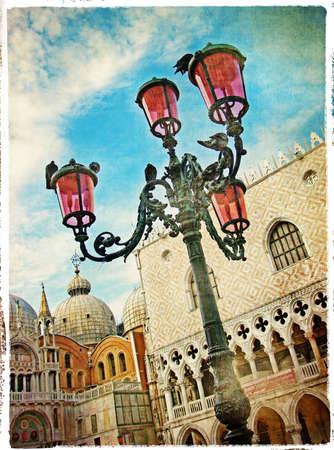 saint mark square: Venice - San Marco square - retro styled