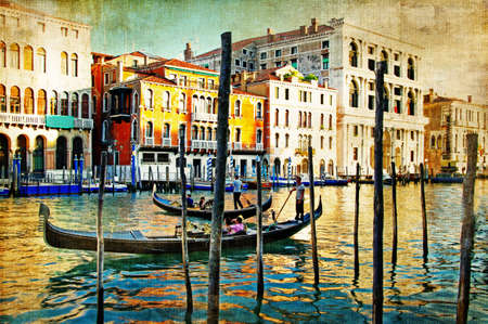 amazing Venice - artwork in painting style Stock Photo