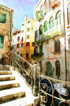 historical reflections: venetian pictures - artwork in painting style