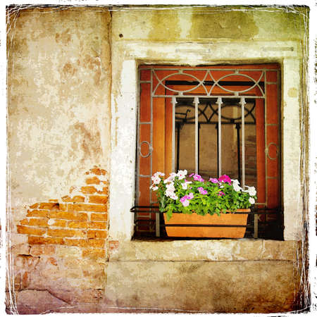 old Venetian windows photo