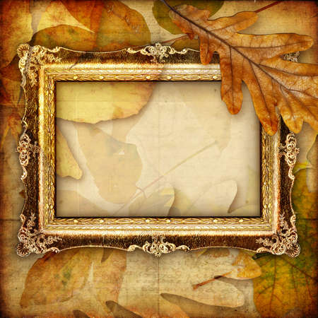 autumn background with blank frame Stock Photo - 5471594