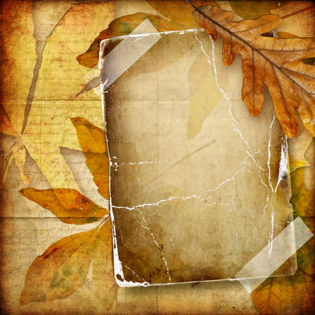 photoalbum: autumn photoalbum Stock Photo