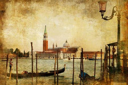 gondola: Venice - retro styled picture