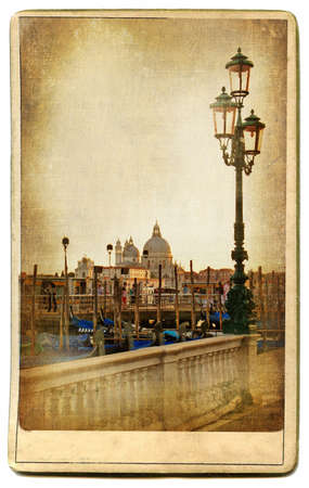 vintage cards series - european landmarks Venice photo