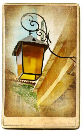 backstreet: Lanterns series Stock Photo