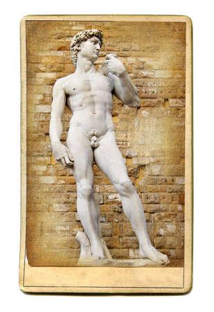 vintage cards series - european landmarks  David photo