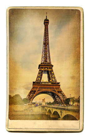 vintage cards series - european landmarks -Paris