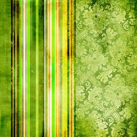 striped wallpaper: vintage green background