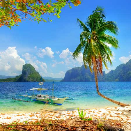 tropischen Strand Szene Standard-Bild