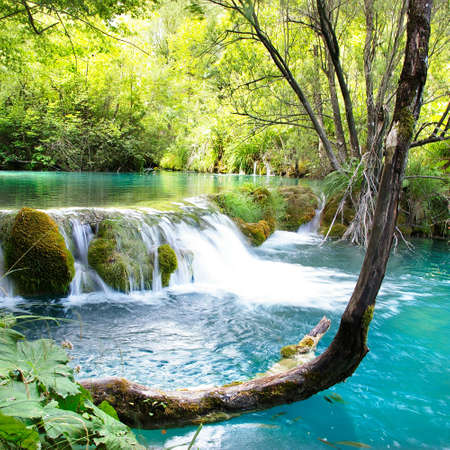 mooie water vallen van Kroatië
