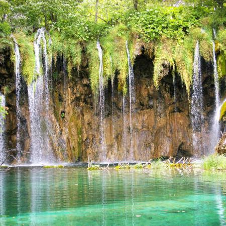 beautiful waterfalls of Croatia photo
