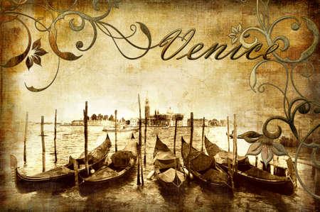 Venetian vintage card photo