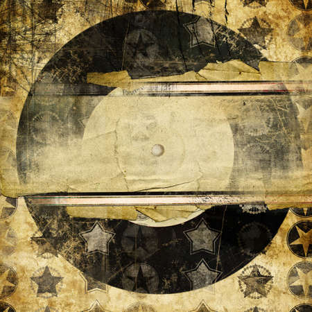 grungy musical background with plavce for text Stock Photo - 6217907