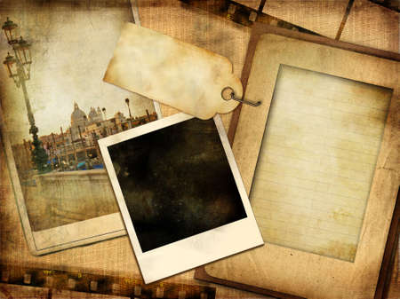 paperboard: old photoalbum