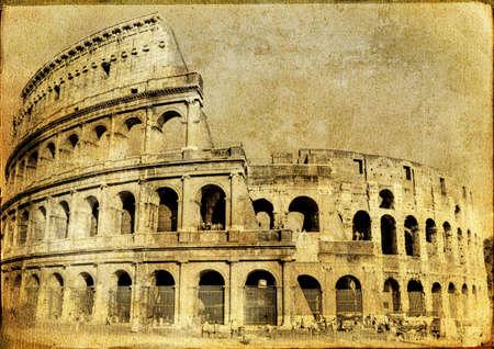 roman amphitheater: great Italian landmarks series -Colloseo Stock Photo