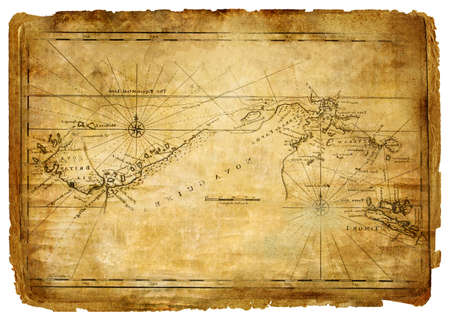 ancient map - vintage background photo