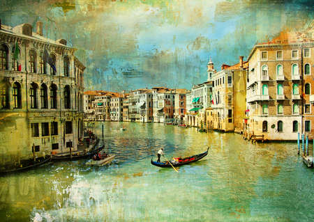 pictorial Venice - artwork in painting style photo
