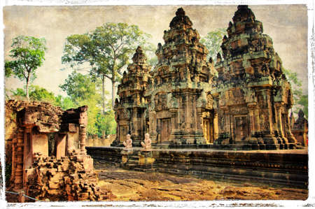 ruins is ancient: ancient temple  (Cambodia)
