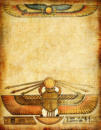 hieroglyphics: old background with egyptian patterns