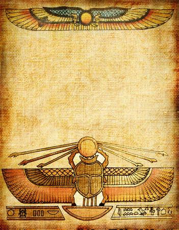 oude achtergrond met Egyptische patronen