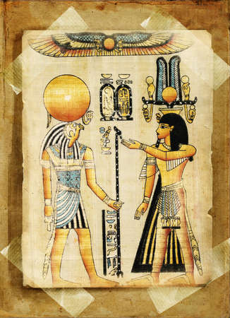 old egyptian papyrus photo