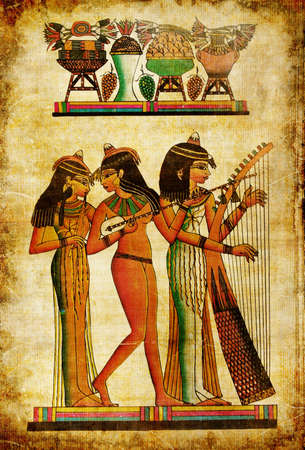 ancient egyptian culture: old egyptian papyrus