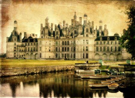 chambord: Chambord castle - retro styled picture