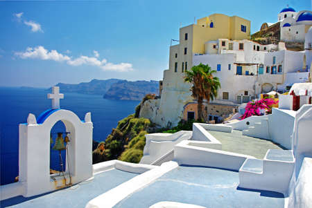 Santorini, Oia town view photo