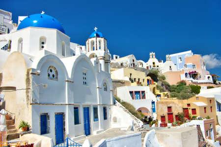 white-blue Santorini photo