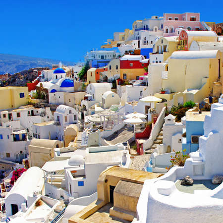 romantic colored Santorini photo