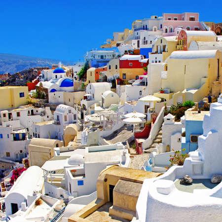 romantic colored Santorini
