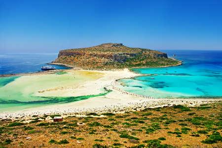 amazing view of Balos bay, Gramvousa (Crete, Greece) Banco de Imagens