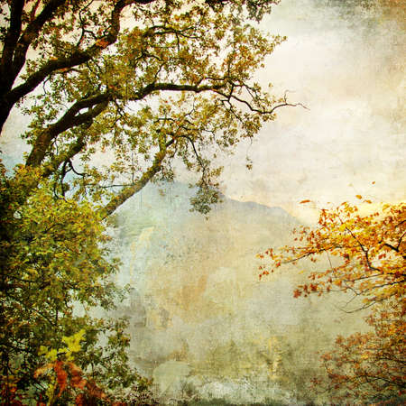 cooper: autumn - artwork in painting style