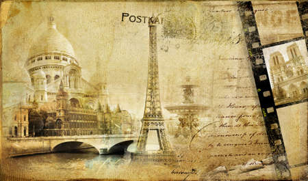 memories about Paris - vintage photoalbum series  photo