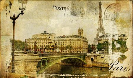 paris vintage: Par�s paris serie de Vintage fotografico  Foto de archivo
