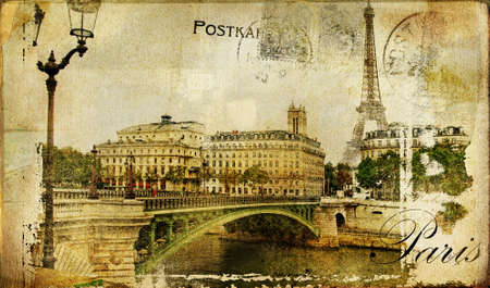 vintage paris: Paris paris.. vintage photoalbum series  Stock Photo