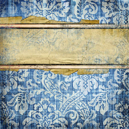 blue jeans: vintage denim background with place for text  Stock Photo