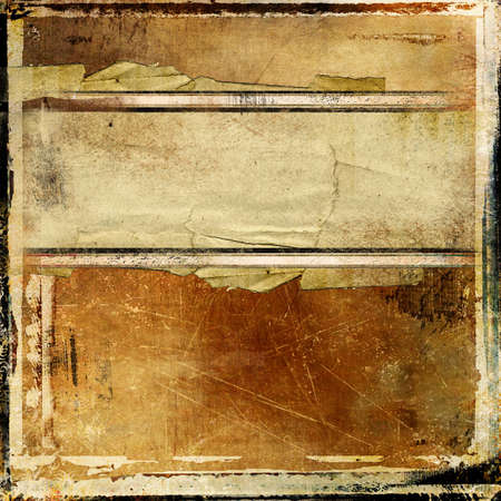 old notebook: grunge vintage background with place for text Stock Photo