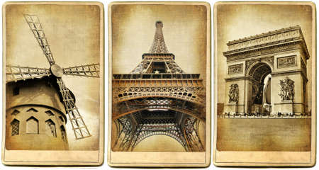 paris vintage: Paris - la cosecha tarjetas serie