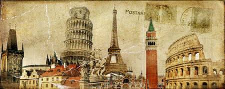 vintage postal card - european holidays  photo