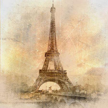 vintage paris: Par�s paris serie de Vintage fotografico  Foto de archivo