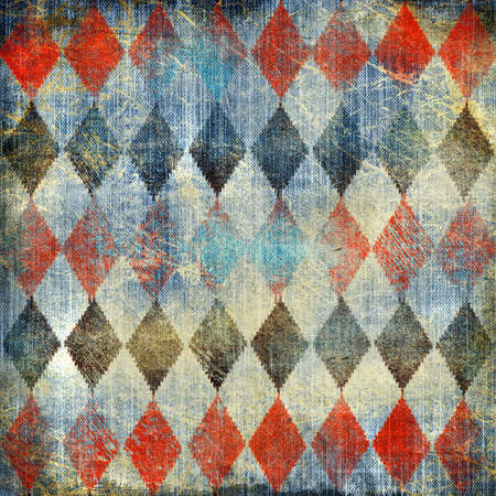 rhombus: retro denim background with rhombus patterns