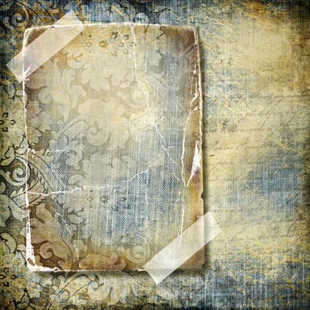 decorative retro background with blank frame  photo