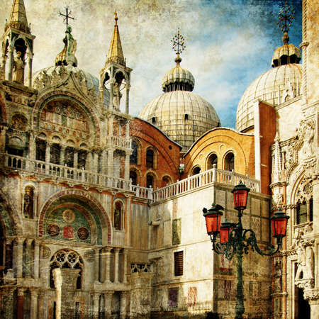amazing Venice - painting style series - San Marco square Stock Photo - 8372131